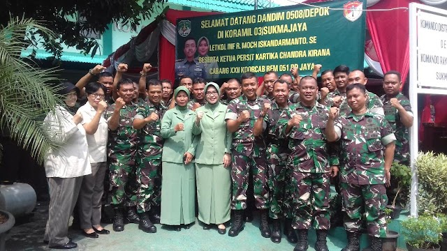Dandim Depok Silaturahmi sekaligus Pamitan ke Koramil 03/Sukmajaya