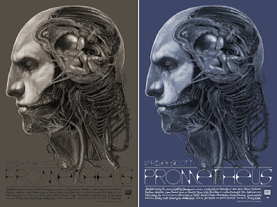 "Prometheus ""Creator of Men"" Movie Poster Screen Print by Gabz x Grey Matter Art"