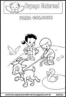 Desenho de crinças para colorir
