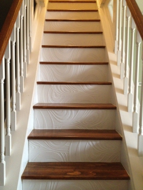 Treppenaufgang Tapezieren Pin This: Wallpapered Stairs