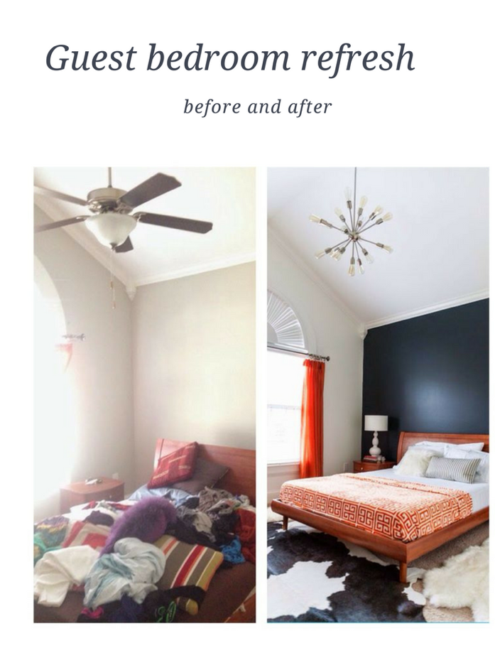 guest bedroom makeover/design addict mom(before and after)