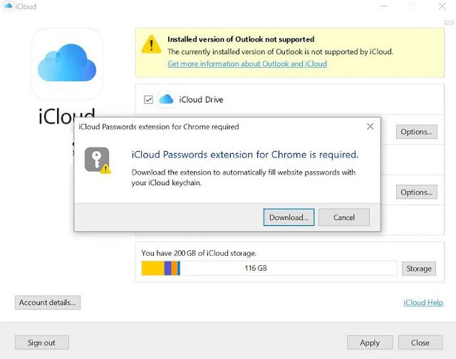 كلمات مرور iCloud تصل إلى ويندوز عبر إضافة كروم