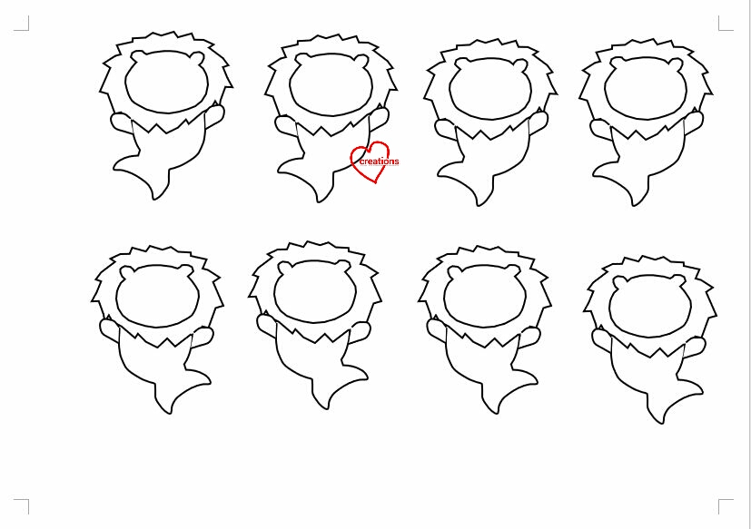 This is a graphic of Macaron Printable Template for shape
