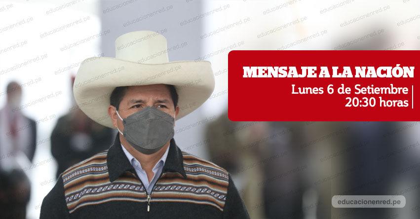 MENSAJE A LA NACIÓN: Presidente Castillo brindará esta noche un pronunciamiento al país por TV Perú - EN VIVO
