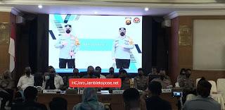 Inilah Capaian Kinerja Wilayah Hukum Polda Jambi Langsung Di Sampaikan Kapolda Jambi Rilis Akhir  Tahun 2020Di Hadapan Para Media.