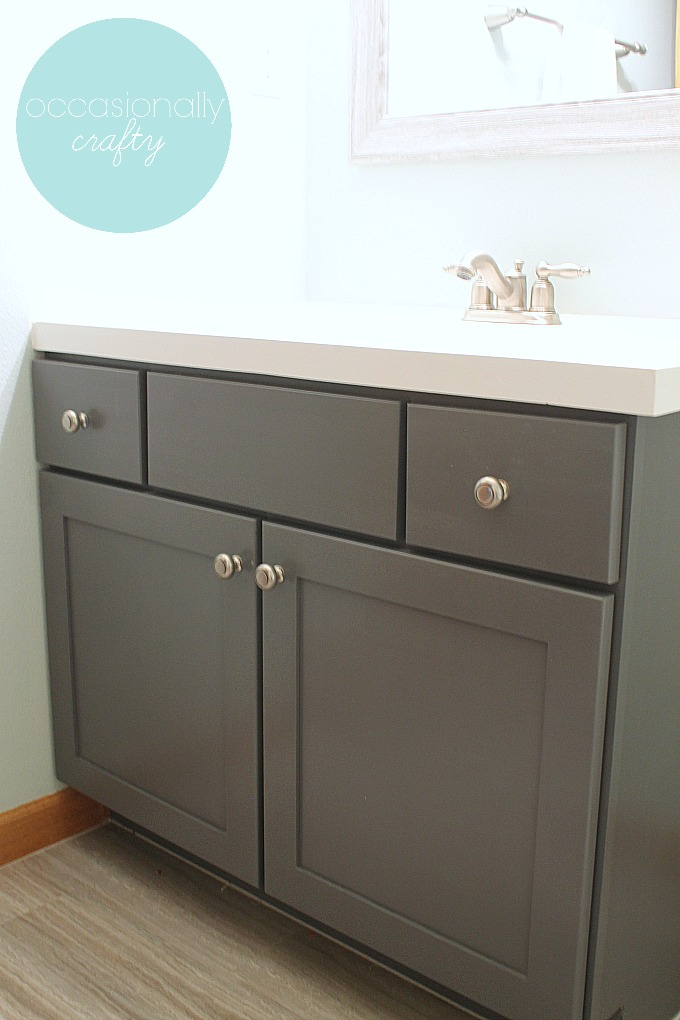 Milk Paint Gray Bathroom Vanity