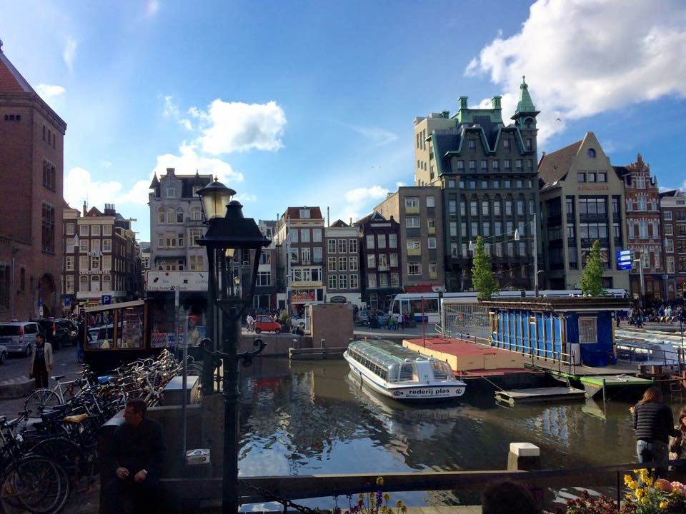 Amsterdam Canals and Boats in the Sunshine