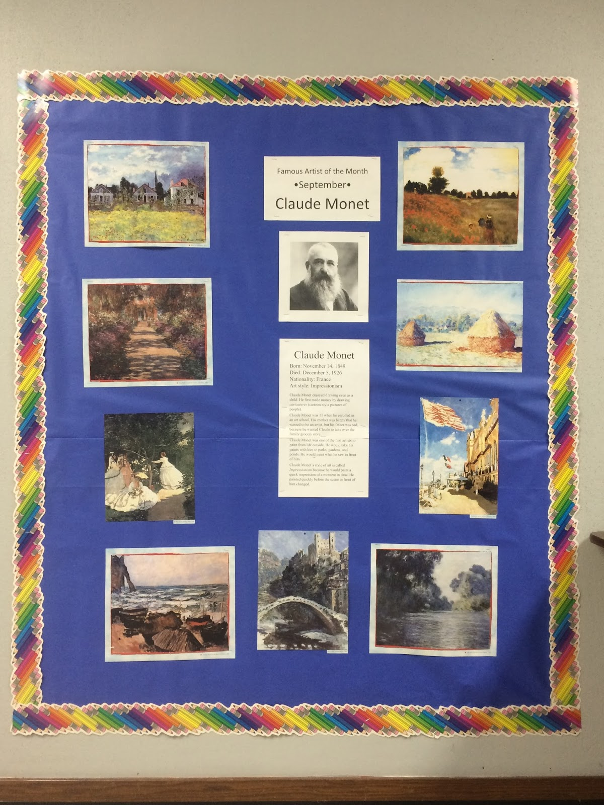 Miss Young's Art Room: September Famous Artist of the Month: Claude