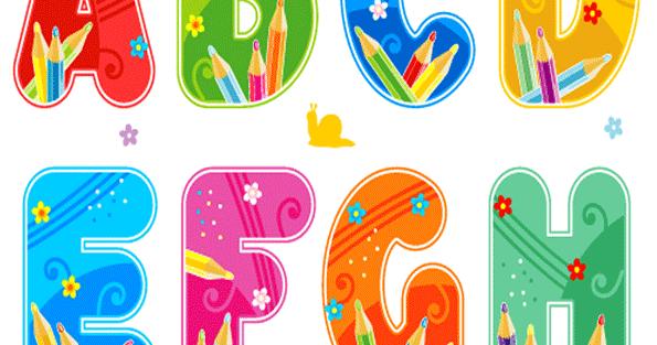 Imagenes Escolares Para Imprimir: Abecedario Escolar Para Imprimir