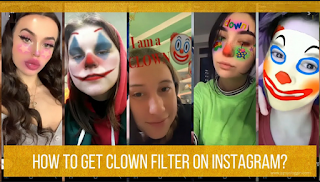 Clown filter instagram || How to get the Instagram Clown filter