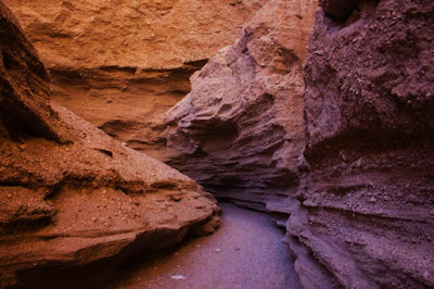 Weird sand valleys of Kal- e Jeni.