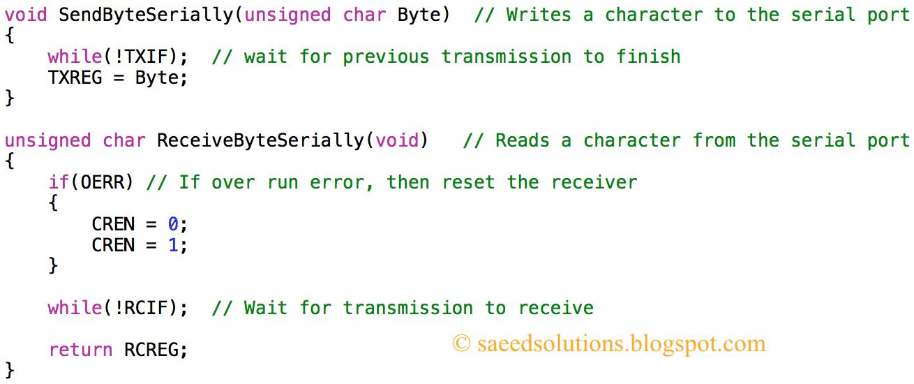 PIC16F877A UART code + Proteus simulation   Saeed's Blog
