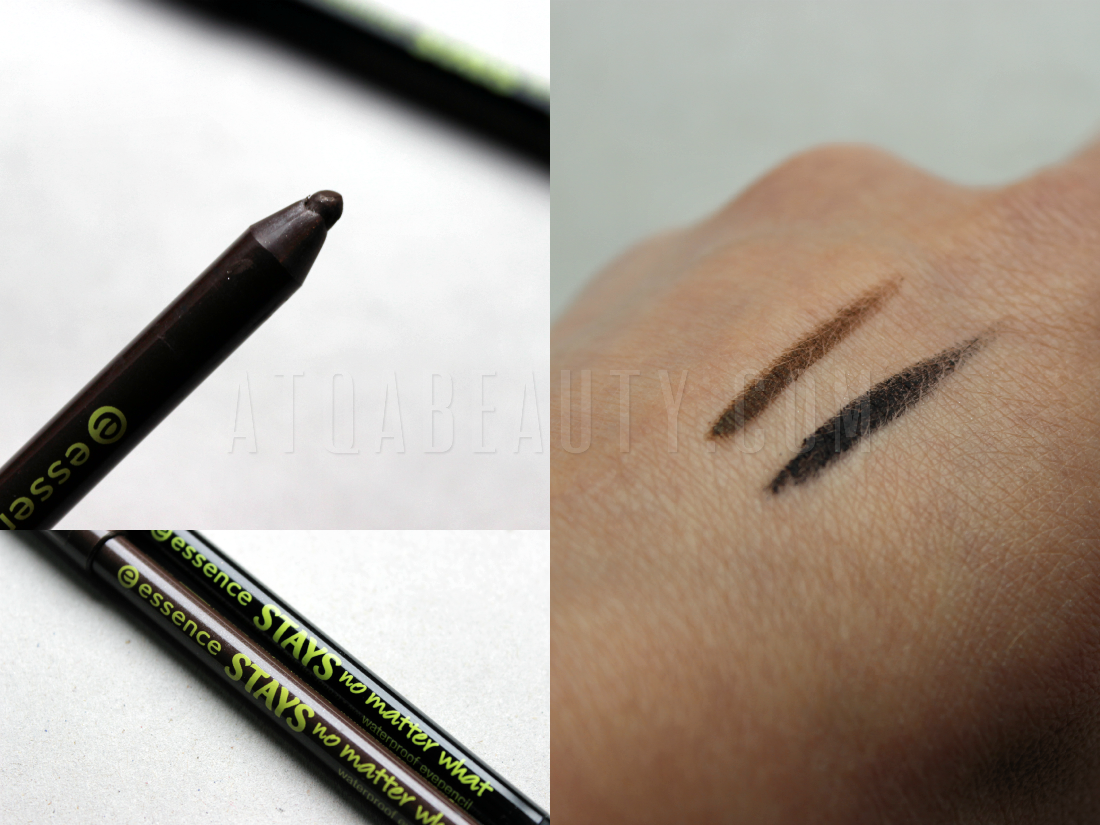 Essence, Stays No Matter What Waterproof Eyepencil, 01 Midnight Black, 02 Stunning Brown