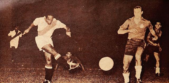 Chile y Perú en Campeonato Panamericano 1956, 15 de marzo