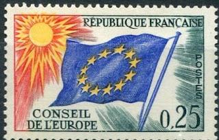 France, 1963-71,council Europa, Flag