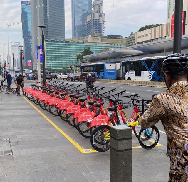 Jakarta Kini Punya 9 Lokasi Bike Sharing