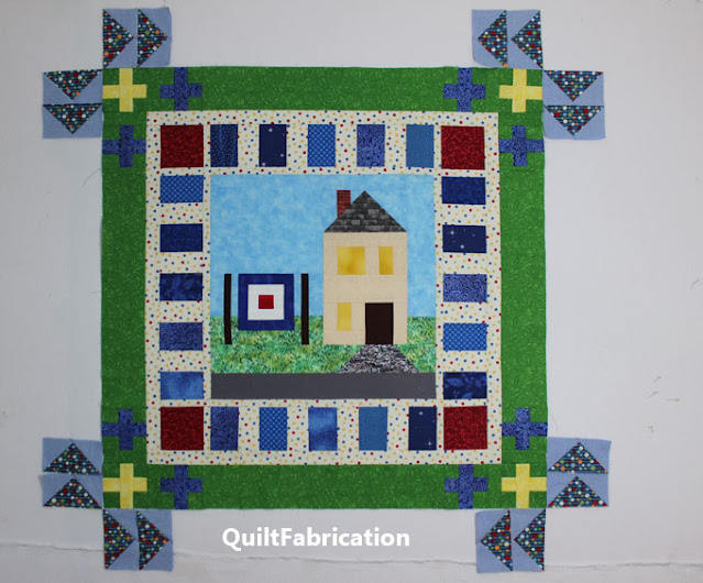 flying geese idea for the quilt corners