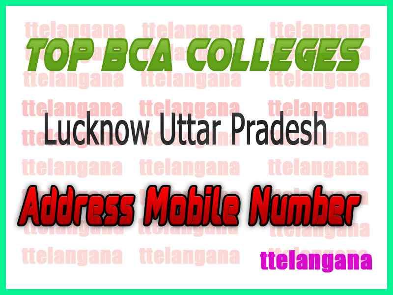 Top BCA Colleges in Lucknow Uttar Pradesh