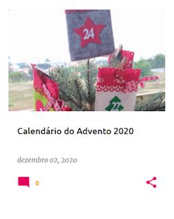 Sacos com números usados no calendário do advento