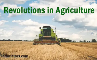 Revolutions in Agriculture (#general Awareness)(#compete4exams)(#eduvictors)