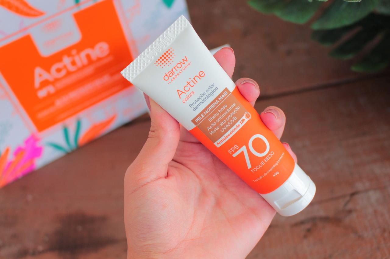 Testei: Protetor Solar Facial Actine Colors FPS70 Darrow