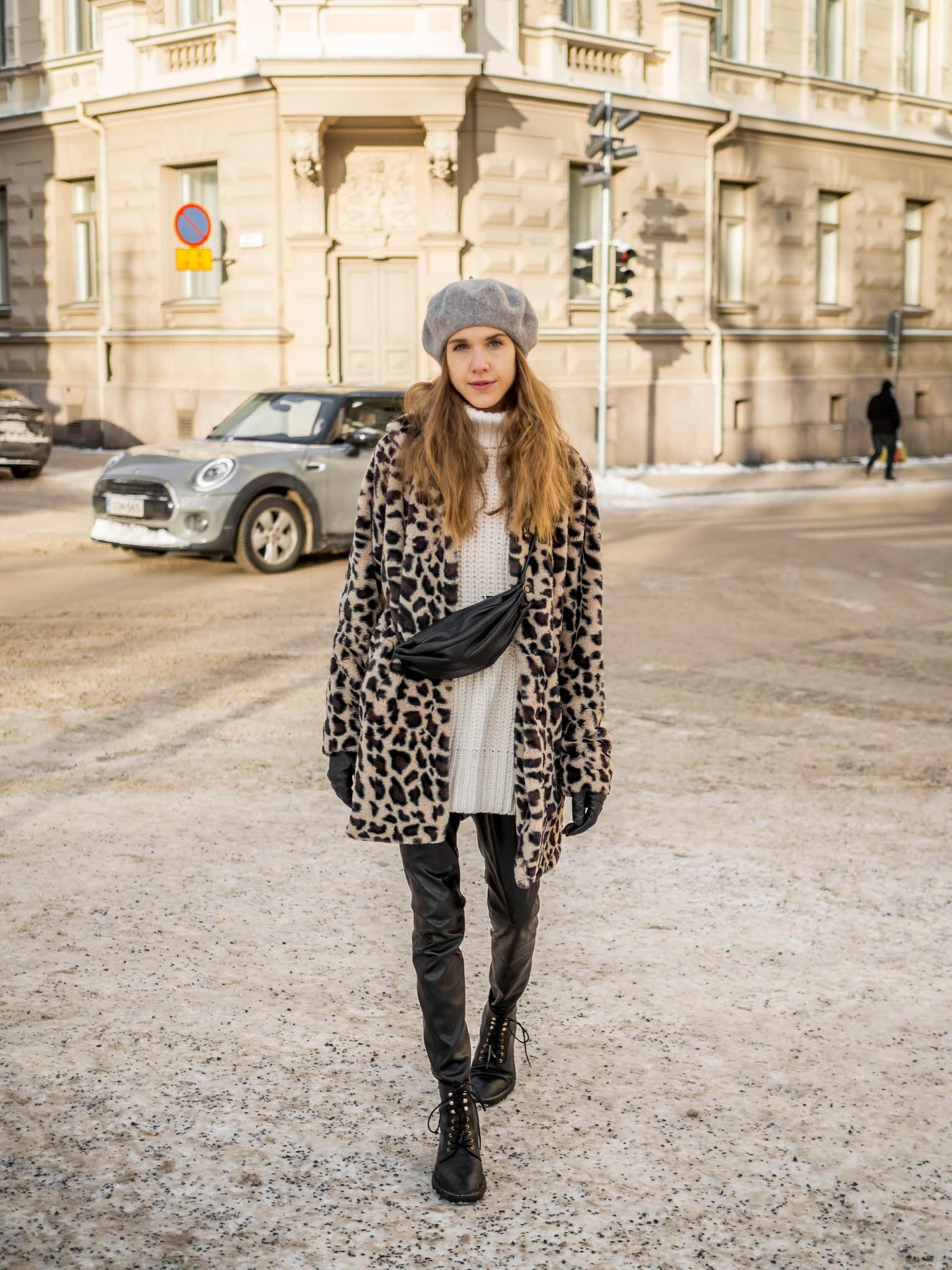 Kuinka yhdistää leoparditakki // How to wear a leopard coat