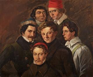 Escuela Alemana, primera mitad del siglo XIX, Retrato de grupo