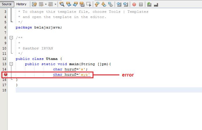 Belajar Pemrograman Java Part 4 Tipe Data Karakter Irvan Gen