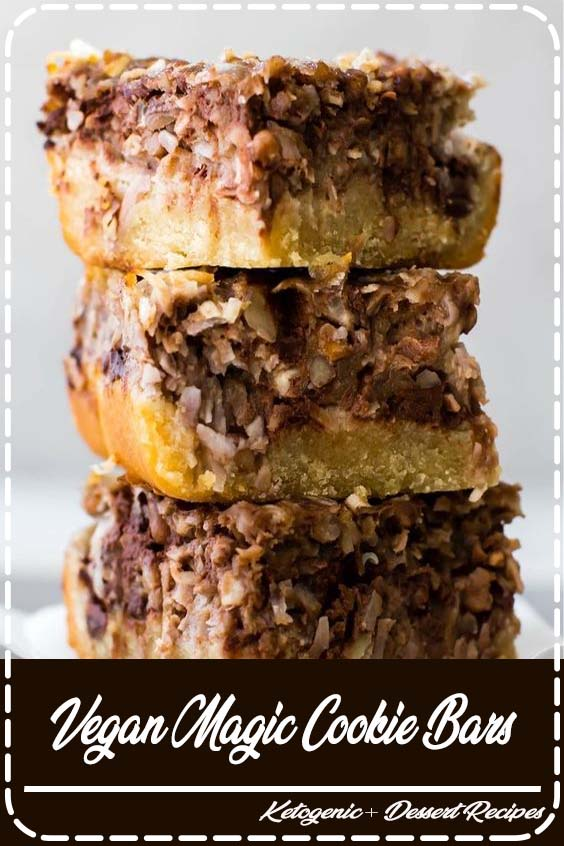 These easy Vegan Magic Cookie Bars are twice as enchanted Vegan Magic Cookie Bars