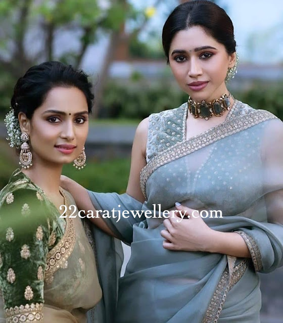 Aarthi Ravi Jades choker