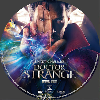 Label DVD Doctor Strange