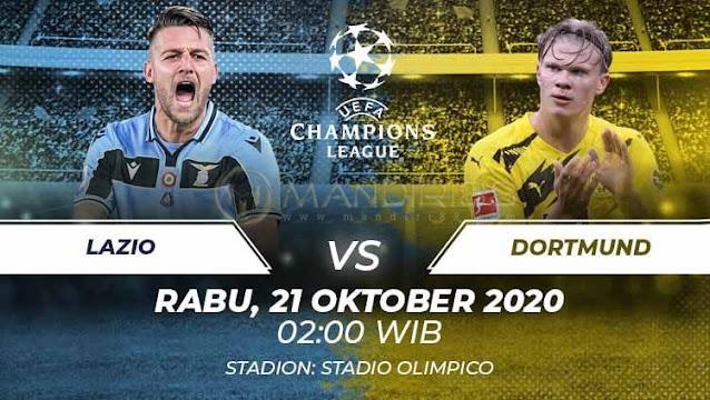 Prediksi Lazio Vs Borussia Dortmund, Rabu 21 Oktober 2020 Pukul 02.00 WIB