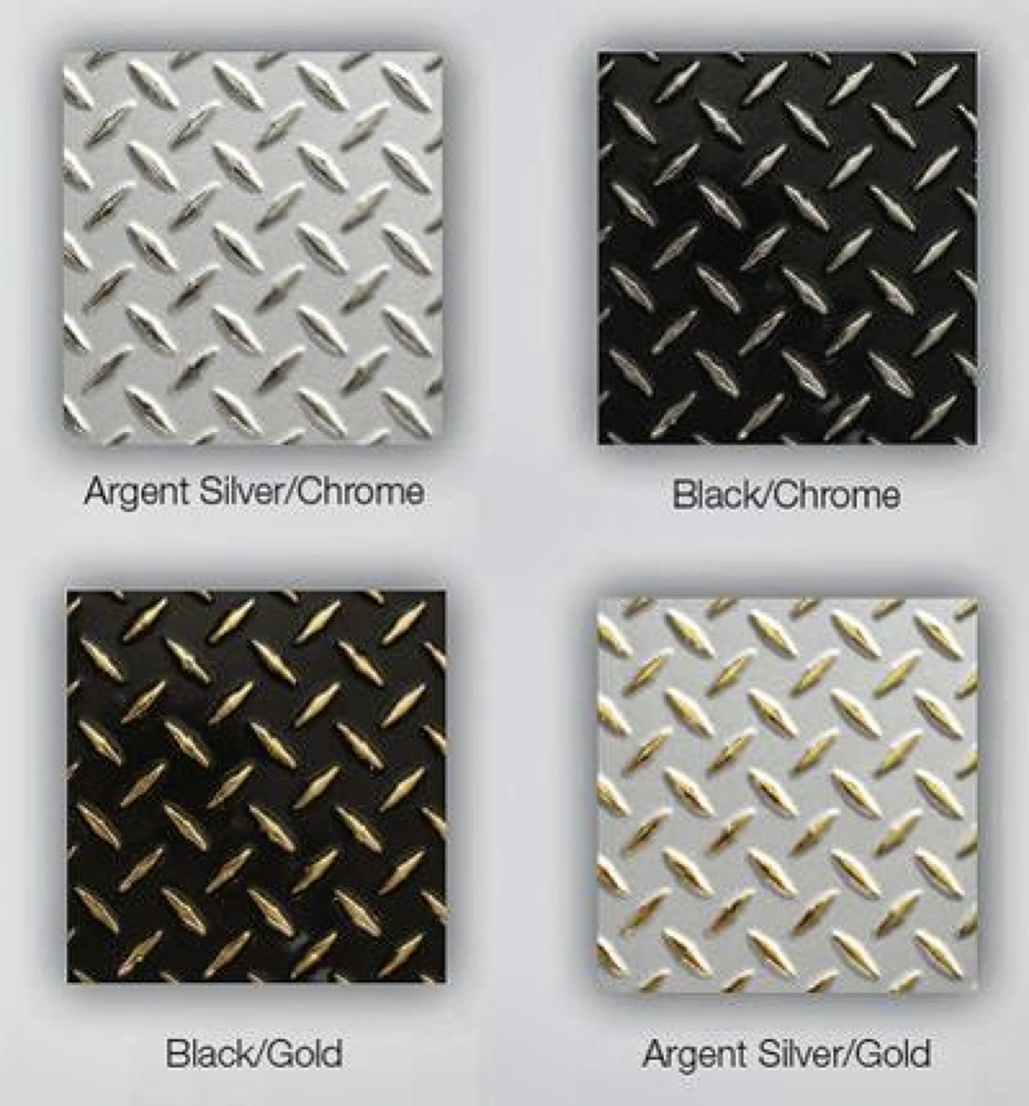 Two Tone Diamond Plate Plastic Sheets | Chrome Plastic ...