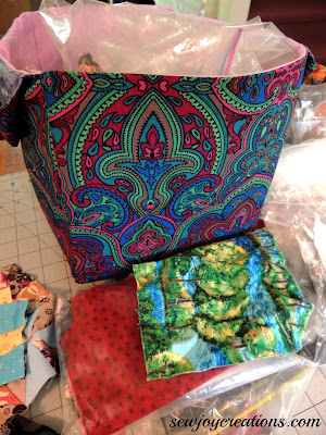 scrap bin excess fabric