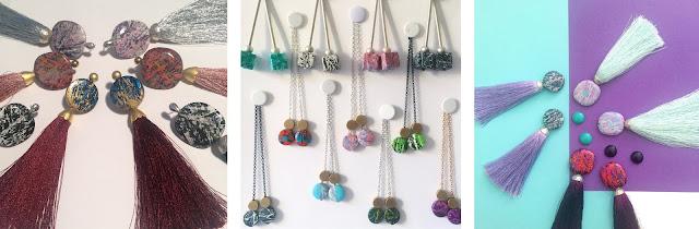 drop errings, wooden earrings, tassel earrings