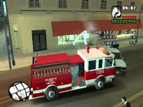 Firefighter Mission 1 (GTA SA Master Save Game)