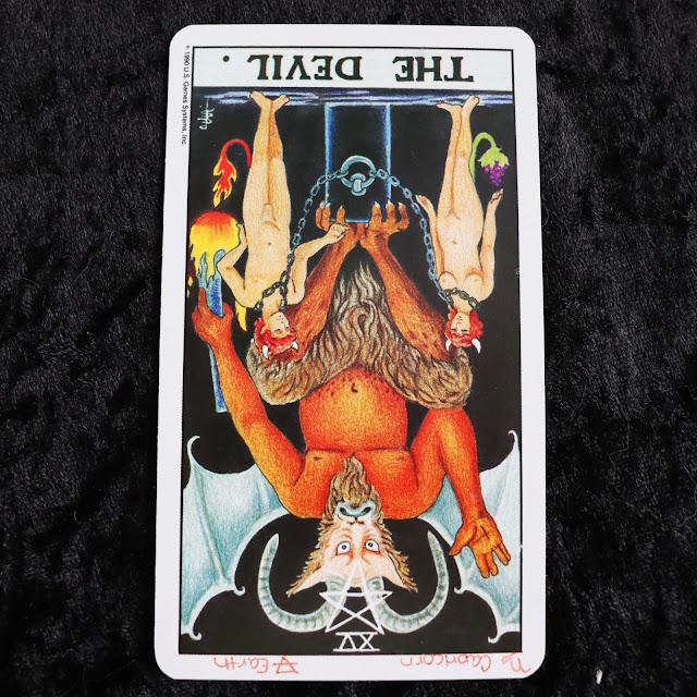 The Devil reversed tarot card