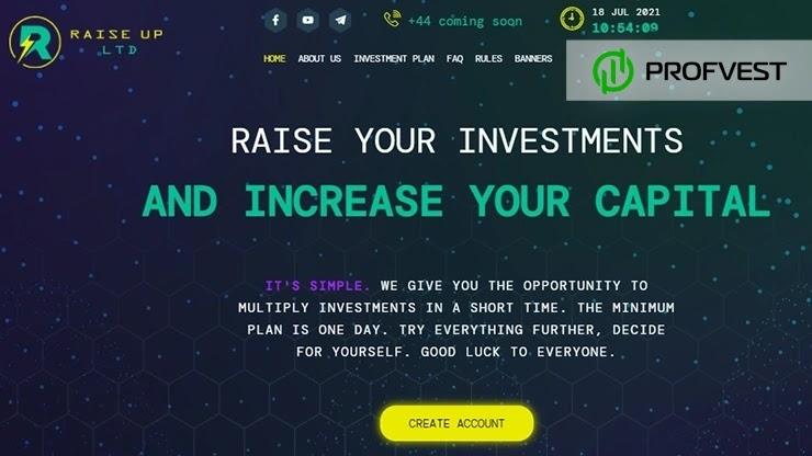 Raise Up обзор и отзывы HYIP-проекта