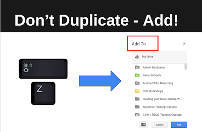 don't duplicate files, add them!
