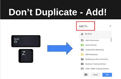 don't duplicate files, add them!