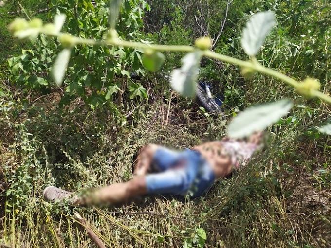 Corpo de um homem crivado de bala é encontrado próximo ao Riacho do Mulato, zona rural de Caraúbas