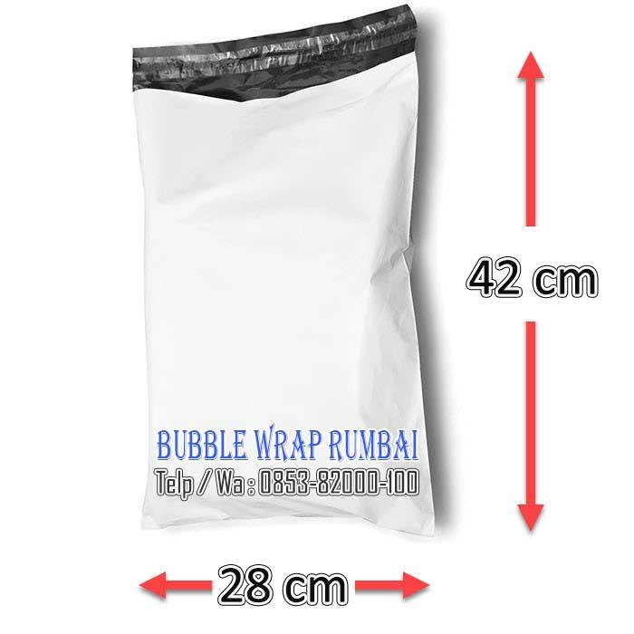 Amplop Plastik Polymailer di Pekanbaru 28 x 42 warna putih