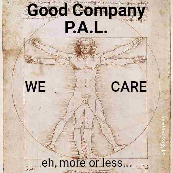 Good Company, P.A.L. logo&slogan by @sciencemug