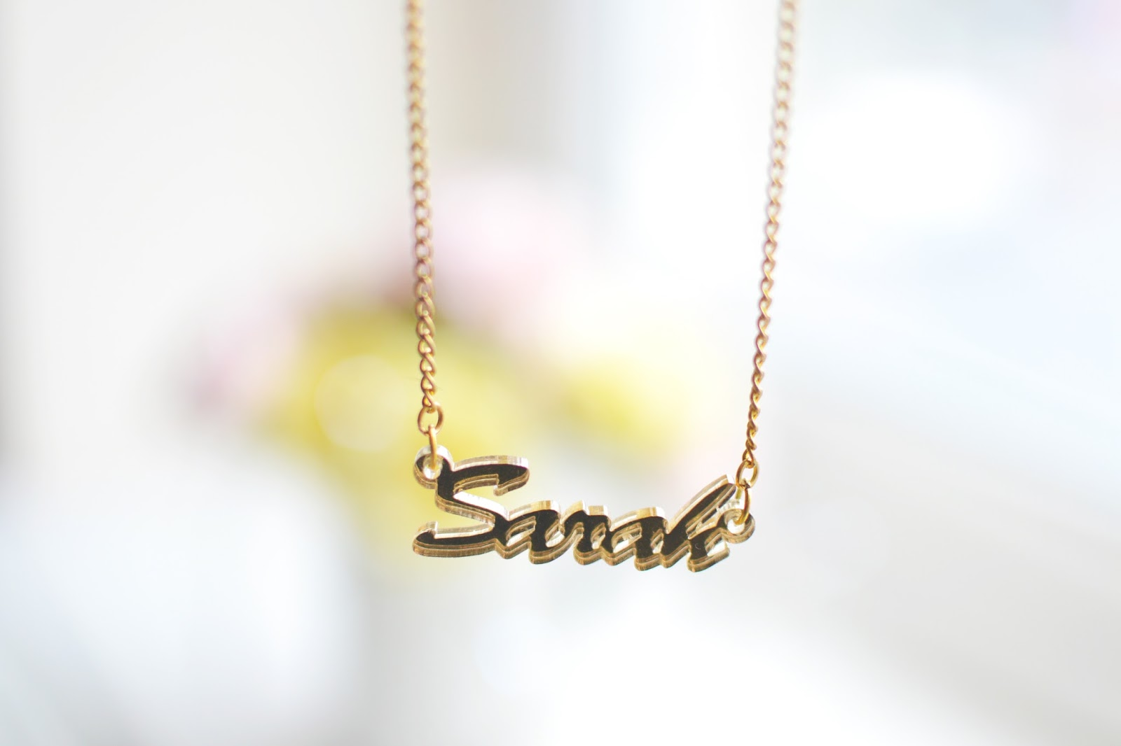 name necklace, sex and the city style name necklace, gold name necklace