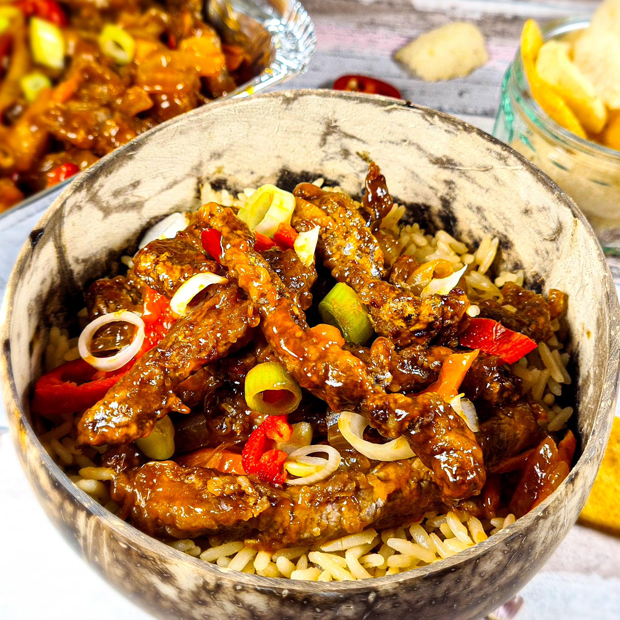 Chinese Crispy Chilli Beef Recipe   Slimming Friendly