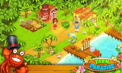 مزرعة الجنة لعبة جزيرة المرح تشبه المزرعة السعيدة بدون انترنت للاندرويد