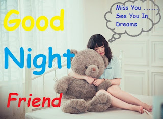 romantic good night friends image