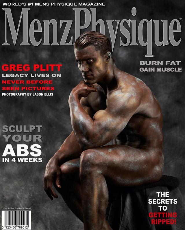 """Greg Plitt reproduz a famosa escultura """"O Pensador"""" em foto inédita publicada pela Menz Physique. Foto: Jason Ellis"""