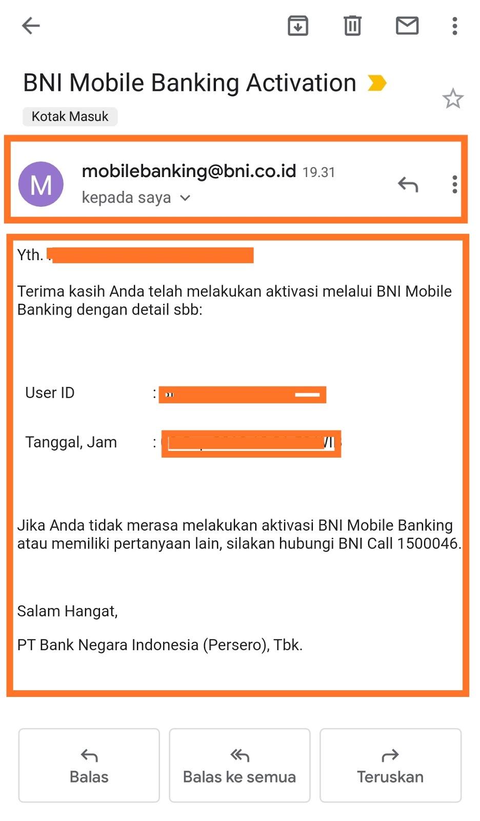 password transaksi pada bni mobile bangking