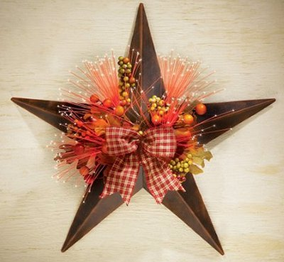 Primitive Country Harvest Star Wall Decoration